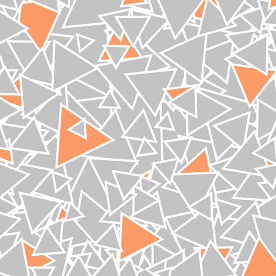 A Bazillion Triangles (Orange Gray) Art Print