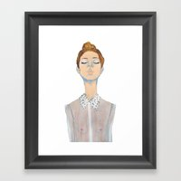 Just The Thought Of You. Framed Art Print