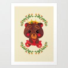 Betty the Little Bear Princess Art Print