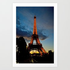 Lighting the Tower Art Print