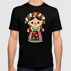 Maria 5 (Mexican Doll) SMALL Black Mens Fitted Tee