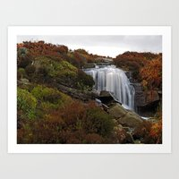 Hambleton Dyke Waterfall Art Print