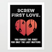 First Love [WHITE] Art Print