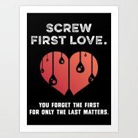 First Love [WHITE] Art Print