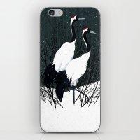 Japanese Cranes / Sayuri iPhone & iPod Skin