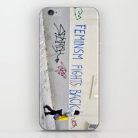 Feminism Fights Back iPhone & iPod Skin
