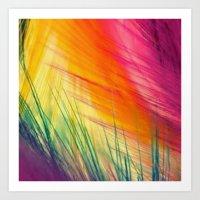 Like A Feather Art Print