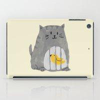 A Cat That Swallows A Bi… iPad Case