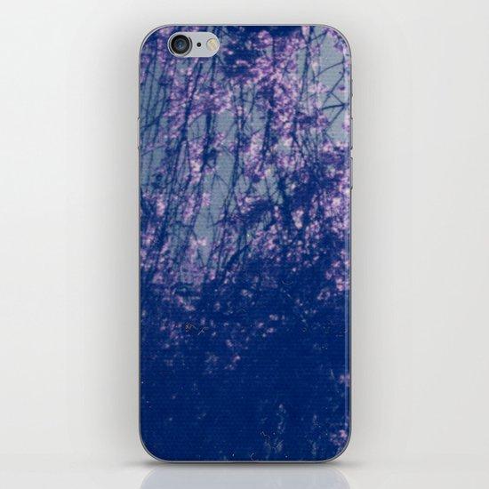 Cherry Blossom Blue iPhone & iPod Skin