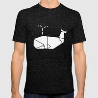 White Whale Mens Fitted Tee Tri-Black SMALL