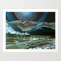 Night Passage - WW480 St… Art Print