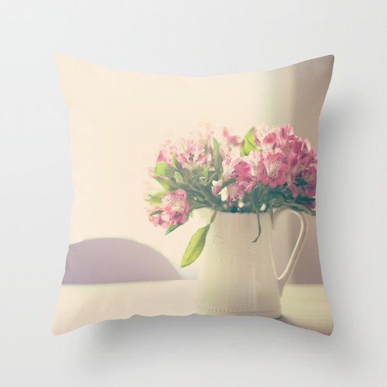 Mother's Flowers Arrangement  Throw Pillow
