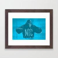 Gorilla NYC Framed Art Print