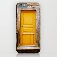 iPhone & iPod Case featuring What lies behind the orange door? by Prism Reflectn