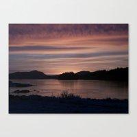 Frozen Sunset 4 - Pale L… Canvas Print