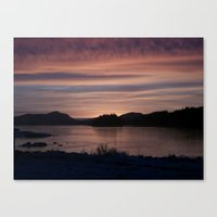 Frozen Sunset 4 - Pale Light Canvas Print