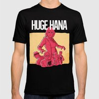 Huge Hana - Official Merch Series II Mens Fitted Tee Black SMALL