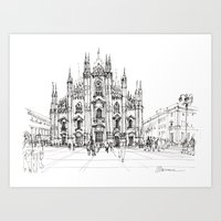 Duomo Di Milano - Schizz… Art Print
