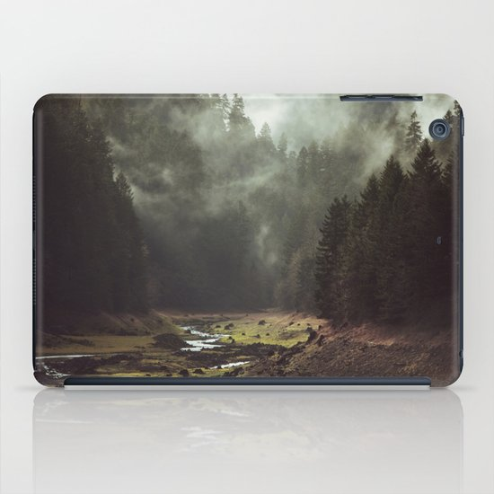 Foggy Forest Creek iPad Case