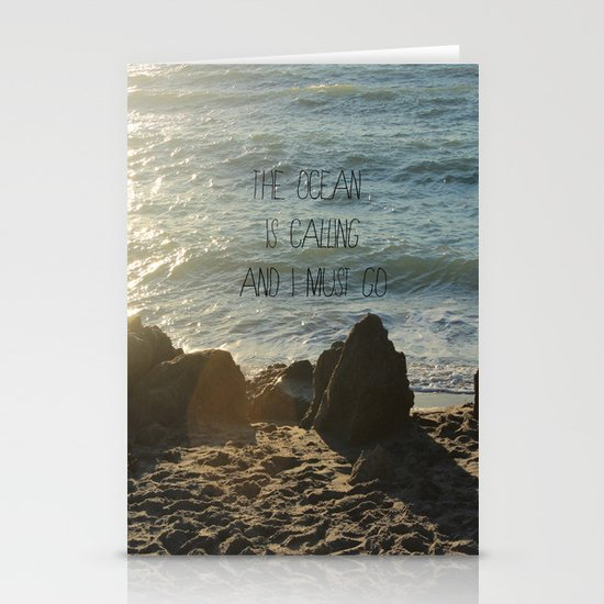The Ocean is Calling Stationery Card