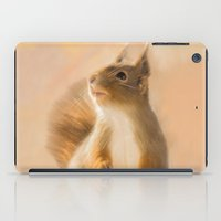 Squirrel, oil and chalk painted squirrel iPad Case