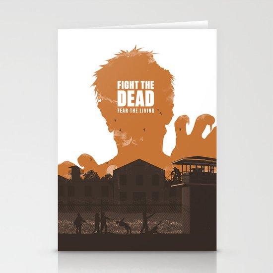 The Walking Dead Prison Walkers Stationery Card