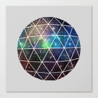 Canvas Print featuring Space Geodesic by Terry Fan