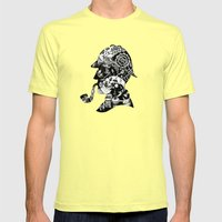 Mr. Holmes Mens Fitted Tee Lemon SMALL