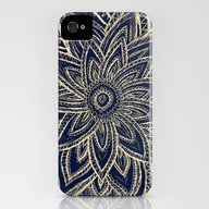 Cute Retro Gold Abstract… iPhone (4, 4s) Slim Case