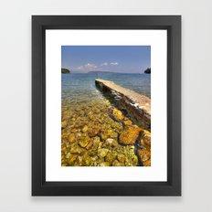 Jetty - Corfu Framed Art Print