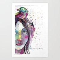 Go On Art Print
