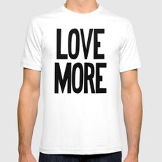 Love More (Gray Version) Mens Fitted Tee White SMALL