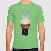PEACE Mens Fitted Tee Grass SMALL
