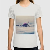 Adventure Is Out There Womens Fitted Tee Silver SMALL