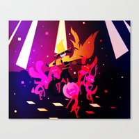 Canvas Print featuring Dance Demon by Doc Diventia