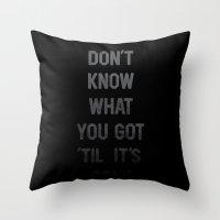 Gone Throw Pillow