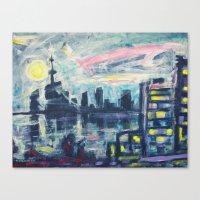 Magical City Evening Canvas Print
