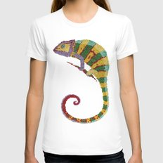 Papeleon Womens Fitted Tee White SMALL