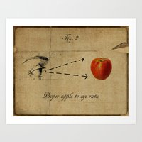 Apple To Eye Art Print