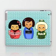 kokeshis (Japanese dolls) Laptop & iPad Skin