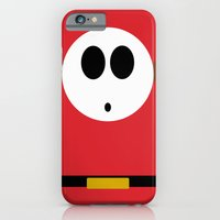 iPhone & iPod Case featuring Minimalist Shy Guy by beware1984