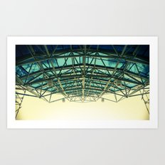 Grid Canopy Art Print