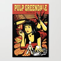 Pulp Greendale Canvas Print