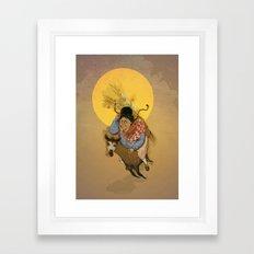 Cholita on the run Framed Art Print