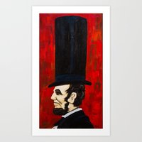 Abraham Lincoln -f Art Print