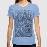 Starfish went out swimming Womens Fitted Tee Athletic Blue SMALL