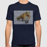 Fox In The Snow Mens Fitted Tee Navy SMALL