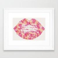 Make A Girl Laugh Framed Art Print