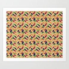 Leafs cute pattern Art Print