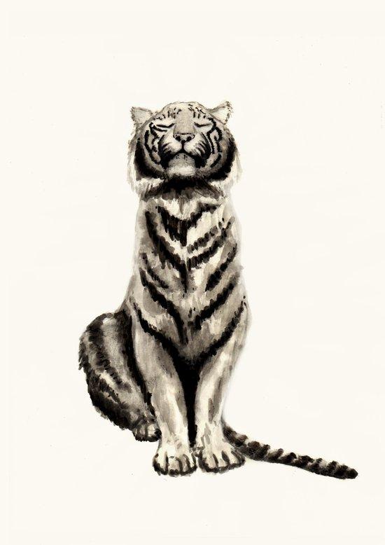 Tiger B&W Art Print